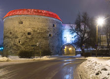 Nothern entrance to old city of Tallinn Stock Images