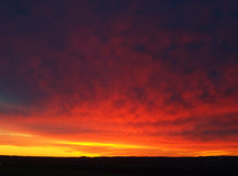 Nothern Night Dawn Stock Photo