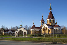 Nothern orthodox church Royalty Free Stock Images