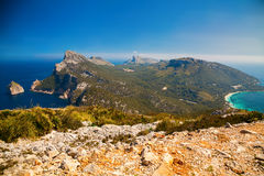 The nothern region of Mallorca - Cap de Formentor Stock Photography