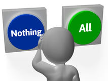 Nothing All Buttons Show Full Or Nill Royalty Free Stock Images