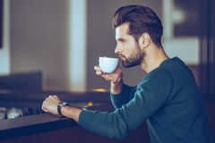 Nothing better then cup of fresh espresso. Royalty Free Stock Photos