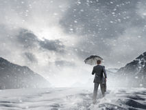 Nothing is gonna stop him Royalty Free Stock Images