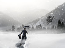Nothing gonna stop him. Mixed media Royalty Free Stock Images