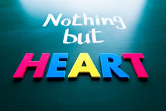 Nothing but heart Royalty Free Stock Photo