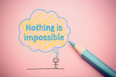 Nothing is impossible Stock Images
