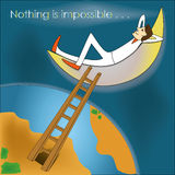 Nothing is impossible Royalty Free Stock Images