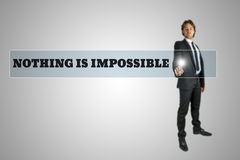 Nothing is impossible Royalty Free Stock Image