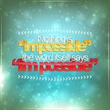 Nothing is impossible Stock Image