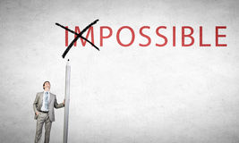 Nothing is impossible Royalty Free Stock Photography