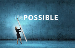 Nothing is impossible Stock Photography