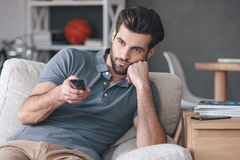 Nothing interesting to watch. Royalty Free Stock Photo