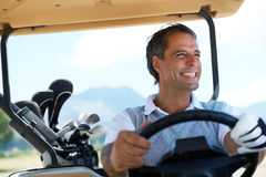Nothing like taking off and playing golf Royalty Free Stock Photography