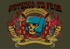 Nothing to fear. Vector illustration ideal for printing on apparel clothing Royalty Free Stock Image