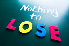 Nothing to lose Stock Images