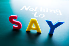 Free Nothing To Say Stock Images - 29721144