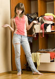 Nothing to wear! Royalty Free Stock Images