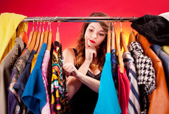 Nothing to wear concept Stock Photos