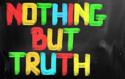 Nothing But Truth Concept Royalty Free Stock Photos