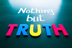 Nothing but truth Stock Images