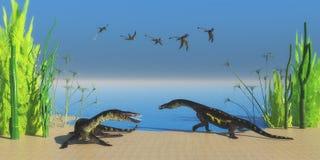 Nothosaurus Reptielstrand Royalty-vrije Stock Afbeeldingen