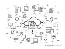 Noti il concetto della nuvola Immagine Stock Libera da Diritti