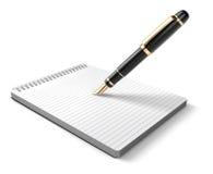 Noti il picchiettio & la penna Fotografia Stock Libera da Diritti