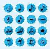 Noti l'icona di musica Immagine Stock Libera da Diritti