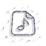 Noti la gente 3d di musica Fotografia Stock