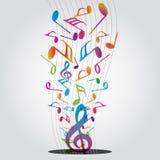 Noti la musica Immagini Stock Libere da Diritti