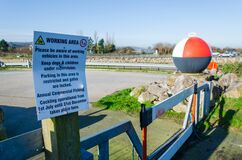 Notice About Parking At Greenfield Dock Stock Image