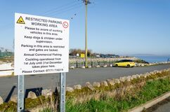 Notice About Parking At Greenfield Dock Royalty Free Stock Image
