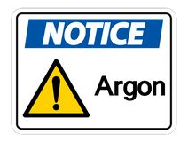 Notice Argon Symbol Sign Isolate On White Background,Vector Illustration royalty free illustration