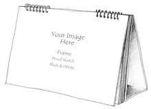 Notice background pencil sketch Royalty Free Stock Photography