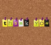 Notice board. With thank you text Royalty Free Stock Image