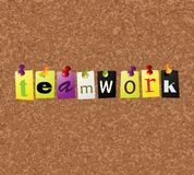 Notice board. With teamwork text Stock Photos