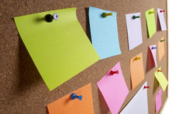 Notice board background Stock Photo