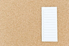 Notice Board With Empty Tasklist Royalty Free Stock Photos