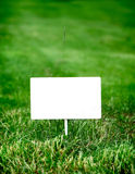 Notice Board on the Grass Royalty Free Stock Photography