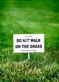 Notice Board on the Grass Stock Photos