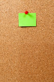 Notice Board, green note and pin Stock Photography