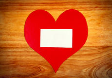 Notice Board with Heart Shape Stock Image