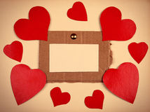 Notice Board with Heart Shapes Royalty Free Stock Photography