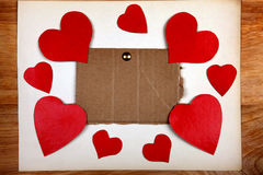 Notice Board with Heart Shapes Royalty Free Stock Photo