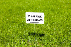 Sign Do Not Walk Grass Stock Photos, Images, & Pictures ...
