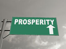 A Notice Board On A National Highway Showing Prosperity Ahead, C. Oncept royalty free stock photo