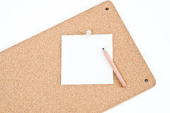 Notice Board With Pencil Royalty Free Stock Photo