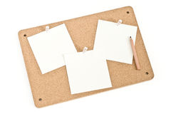 Notice Board With Pencil Royalty Free Stock Photography