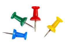 Notice Board pins. Royalty Free Stock Photo