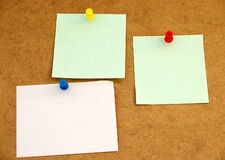 Notice board with post-it note#1 Royalty Free Stock Images
